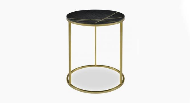 Monroe End Table (Black & Brass, Black & Brass Finish) by Urban Ladder - Front View Design 1 - 374481