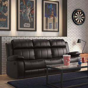 Arden manual recliner brown color upholstered recliner finish lp