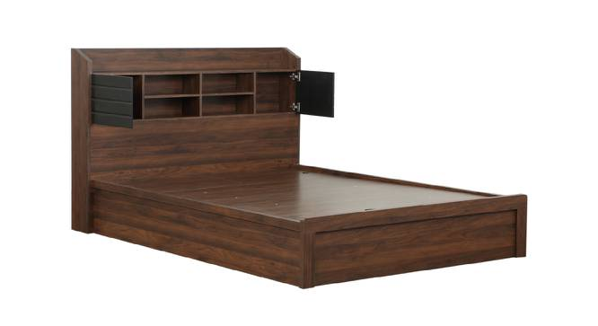 Babar Storage Bed (Queen Bed Size, Brown Finish) by Urban Ladder - Front View Design 1 - 374541