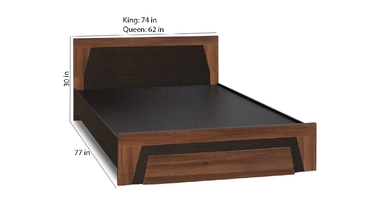 Andaman storage bed brown color engineered wood finish 6