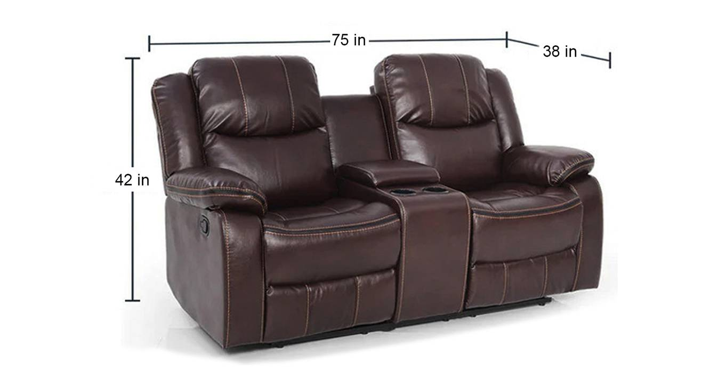 Alma manual recliner brown color upholstered recliner finish 6