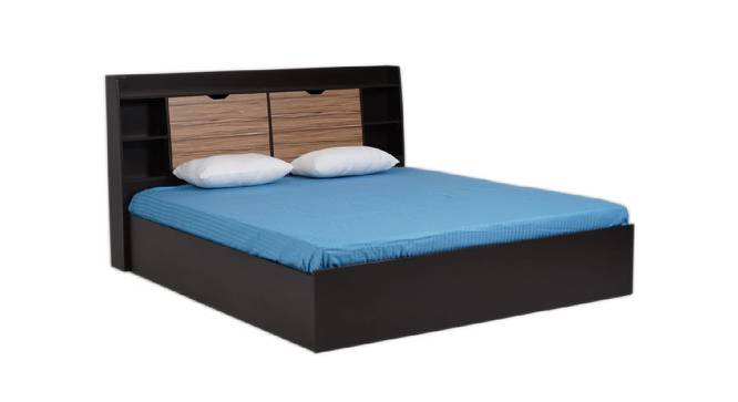 Carran Storage Bed (Queen Bed Size, Brown Finish) by Urban Ladder - Cross View Design 1 - 374615