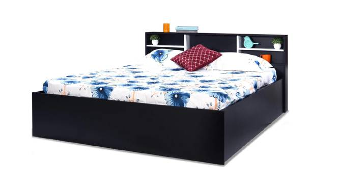 Cancun Storage Bed (King Bed Size, Brown Finish) by Urban Ladder - Front View Design 1 - 374628