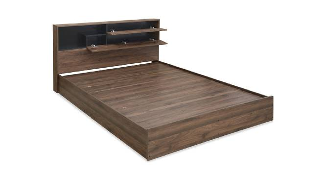Buton Storage Bed (King Bed Size, Brown Finish) by Urban Ladder - Front View Design 1 - 374633