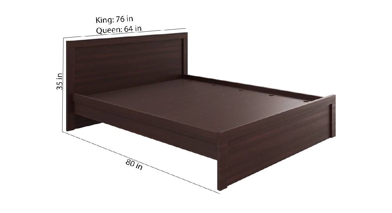 Crete bed brown color engineered wood finish 6
