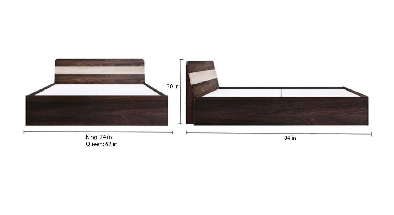 Corfu storage bed brown color engineered wood finish 6