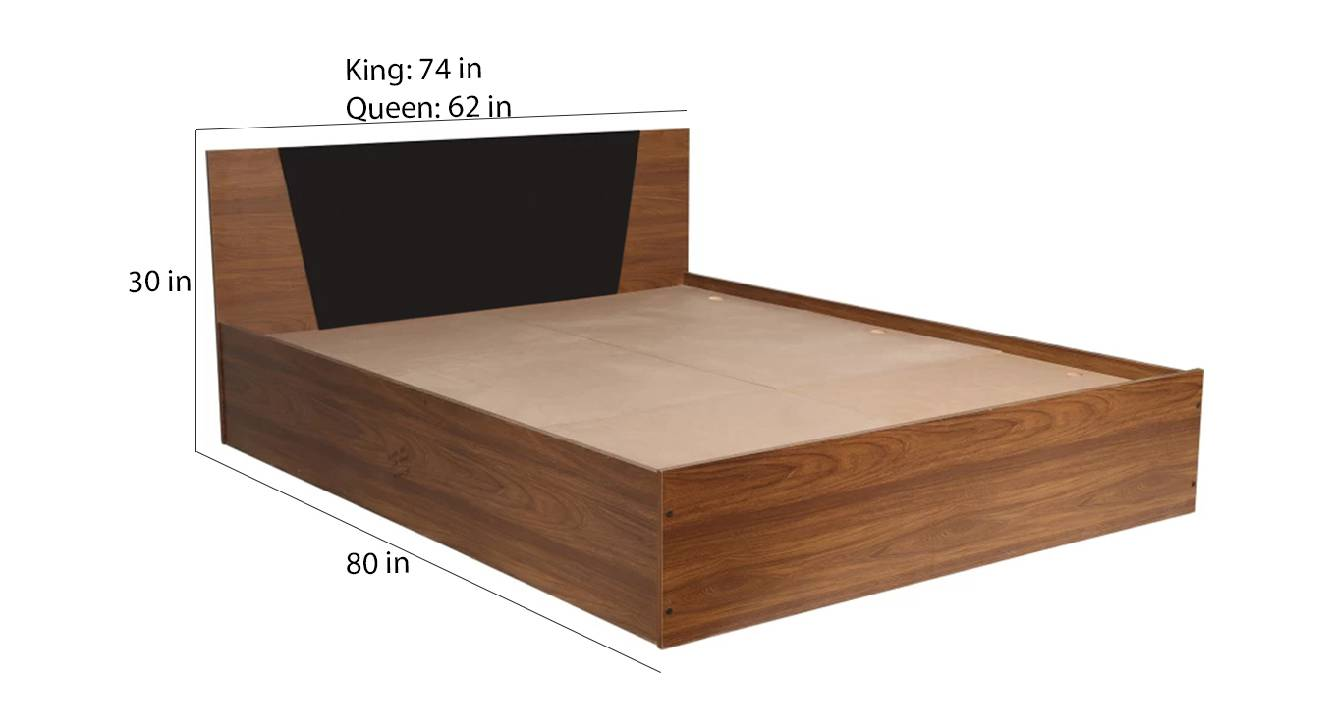 Corsica storage bed brown color engineered wood finish 6