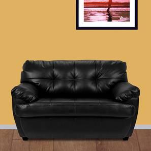 Danila loveseat black color upholstered sofa finish lp