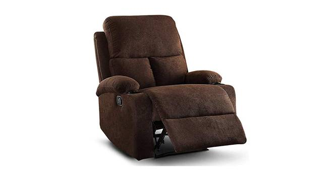 Heize Manual Recliner (Brown) by Urban Ladder - Cross View Design 1 - 374695