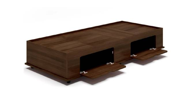 Delos Storage Bed (Single Bed Size, Brown Finish) by Urban Ladder - Front View Design 1 - 374701