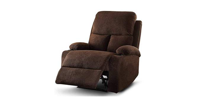 Heize Manual Recliner (Brown) by Urban Ladder - Front View Design 1 - 374708