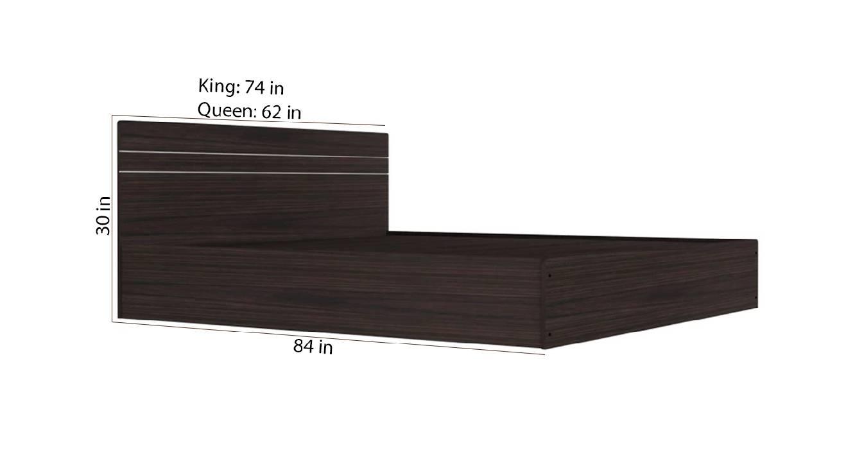 Kangean storage bed brown color engineered wood finish 6