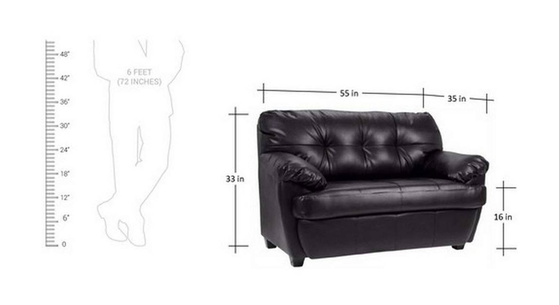 Danila loveseat black color upholstered sofa finish 6