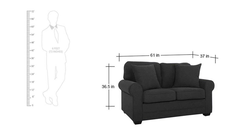 Jenson loveseat dark grey color upholstered sofa finish 6