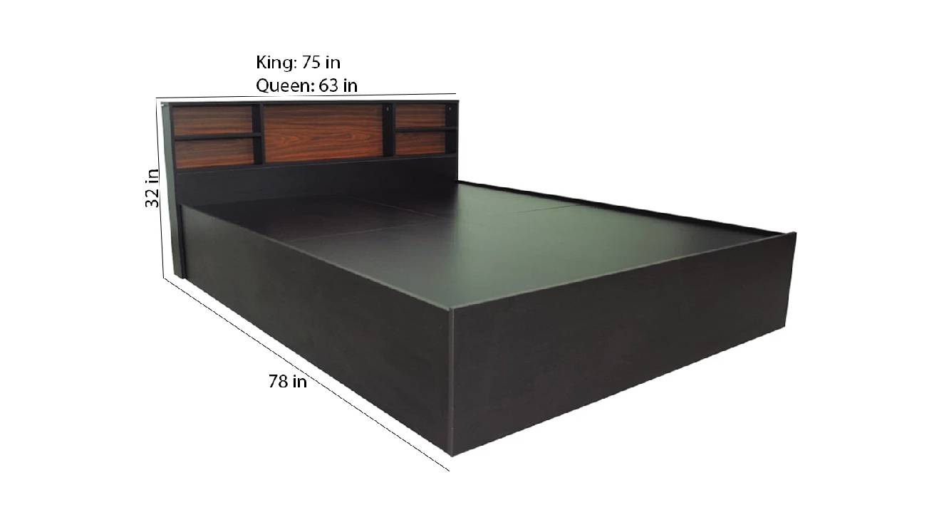 Lemnos storage bed brown color engineered wood finish 6