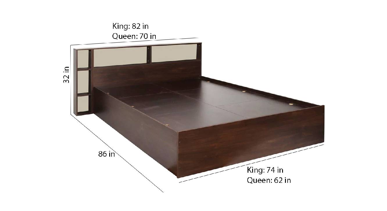 Laut storage bed brown color engineered wood finish 6