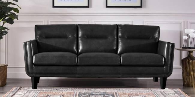 Kelly Leatherette sofa - Black (Black, 3-seater Custom Set - Sofas, None Standard Set - Sofas, Leatherette Sofa Material, Regular Sofa Size, Regular Sofa Type)