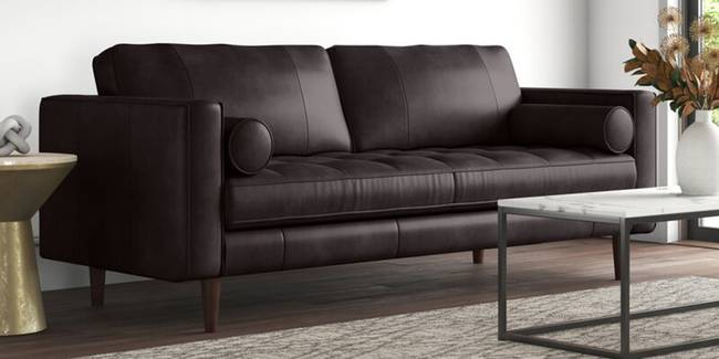 Penny Leatherette sofa - Brown (Brown, None Custom Set - Sofas, 3-2 Set Standard Set - Sofas, Leatherette Sofa Material, Regular Sofa Size, Regular Sofa Type)