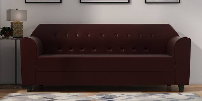 Rismana Leatherette sofa - Brown (Brown, 3-seater Custom Set - Sofas, None Standard Set - Sofas, Leatherette Sofa Material, Regular Sofa Size, Regular Sofa Type)