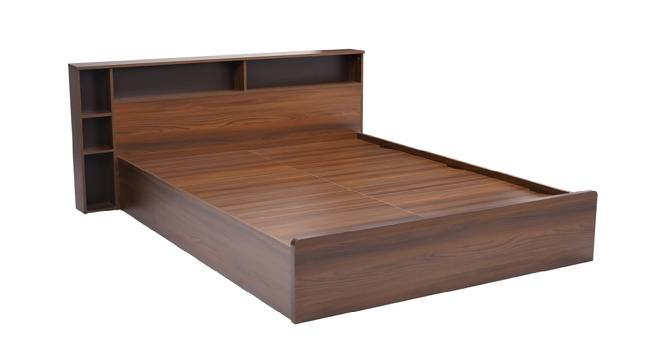 Patmos Storage Bed (Queen Bed Size, Brown Finish) by Urban Ladder - Cross View Design 1 - 374949