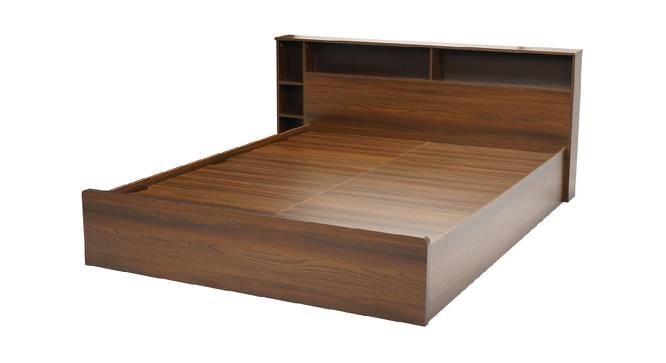 Patmos Storage Bed (Queen Bed Size, Brown Finish) by Urban Ladder - Front View Design 1 - 374961