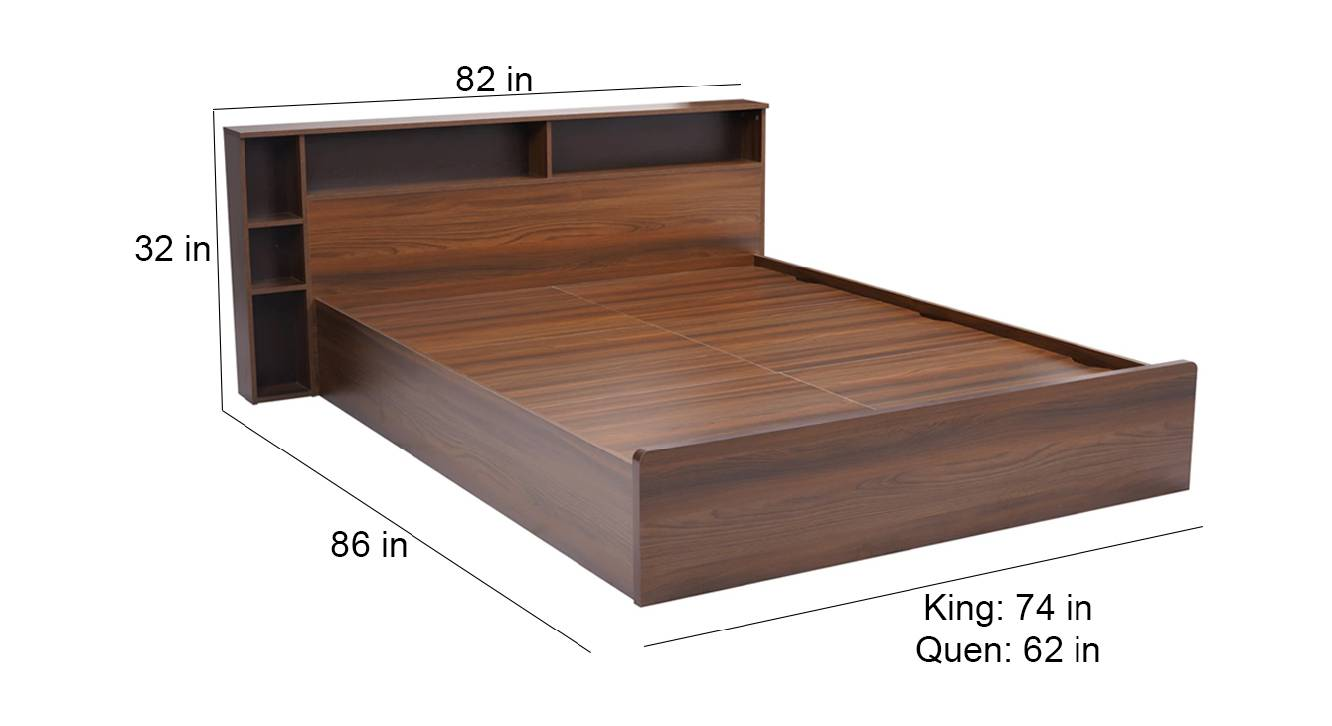 Patmos storage bed brown color engineered wood finish 6