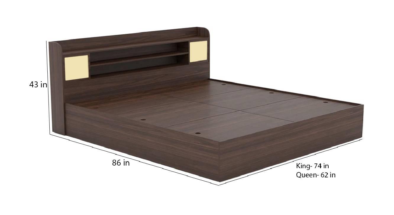 Palawan storage bed brown color engineered wood finish 6