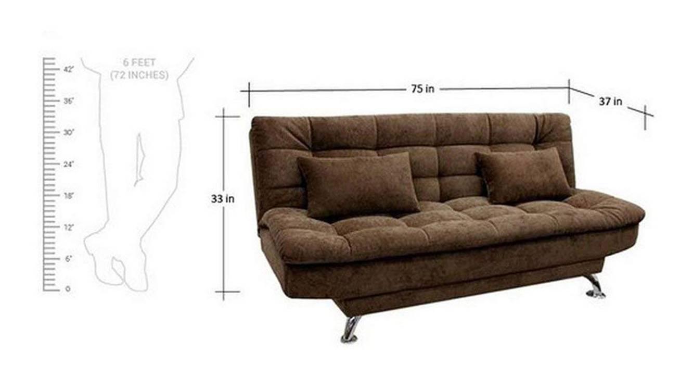 Marine sofa cum bed brown color upholstered sofa cum bed finish 6