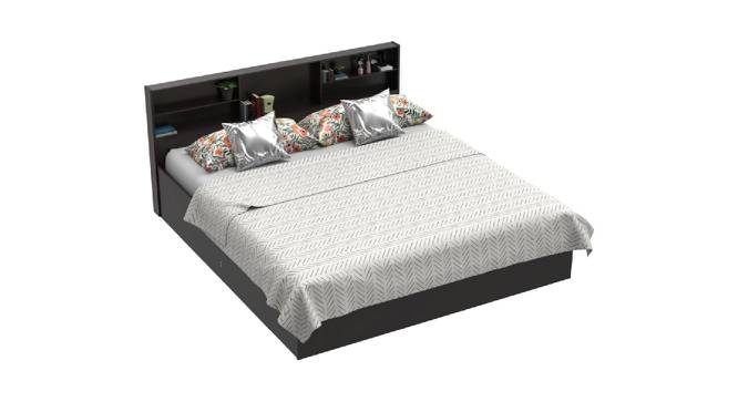Sela Storage Bed (Queen Bed Size, Brown Finish) by Urban Ladder - Cross View Design 1 - 375024