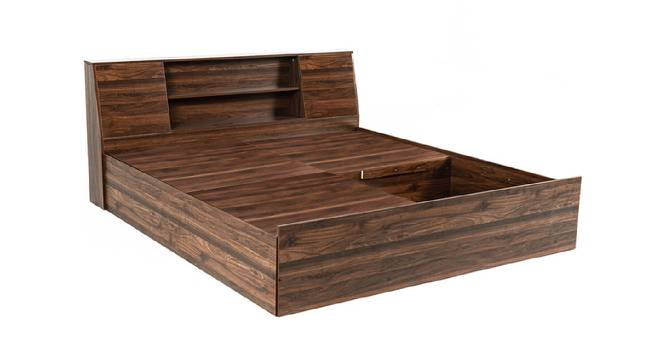 Siphnus Storage Bed (King Bed Size, Brown Finish) by Urban Ladder - Front View Design 1 - 375034