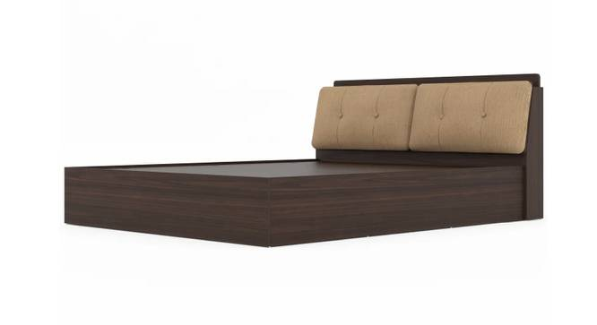 Skyros Storage Bed (Queen Bed Size, Brown Finish) by Urban Ladder - Front View Design 1 - 375041