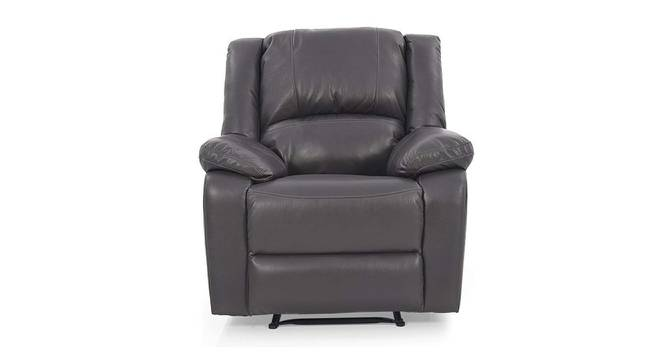 Quinton Manual Recliner (Grey) by Urban Ladder - Front View Design 1 - 375043