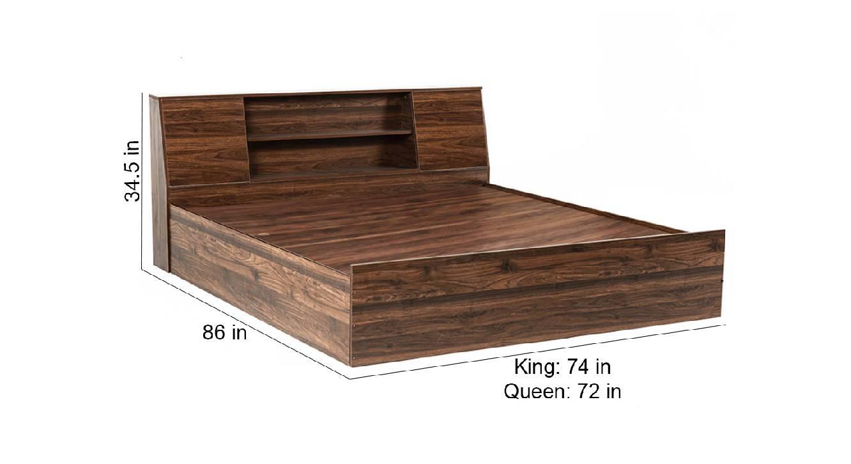 Siphnus storage bed brown color engineered wood finish 6