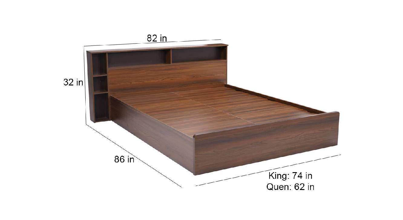 Rhodes storage bed brown color engineered wood finish 6