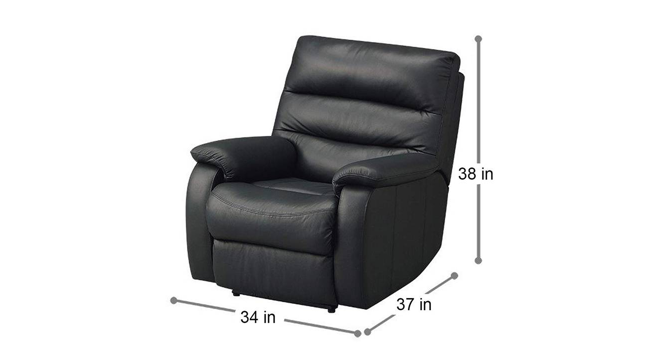 Smith manual recliner black color upholstered recliner finish 6