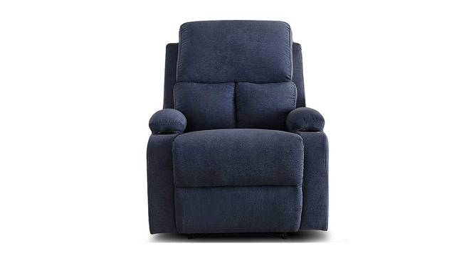 Thompson Manual Recliner (Blue) by Urban Ladder - Front View Design 1 - 375113