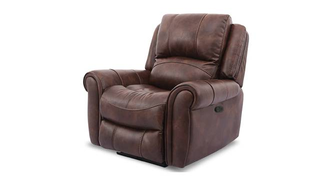 Xavier Manual Recliner (Brown) by Urban Ladder - Front View Design 1 - 375116