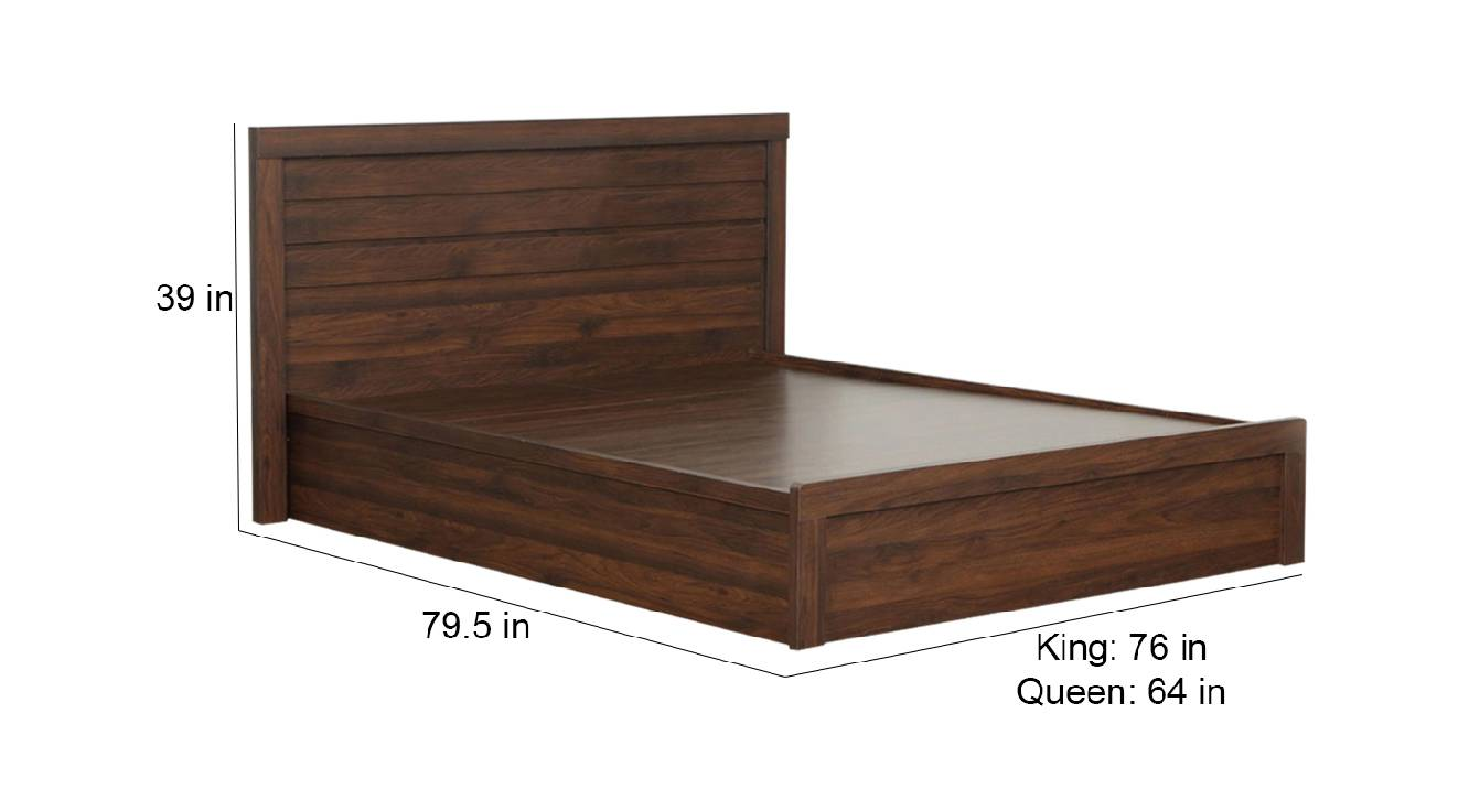 Surtsey storage bed brown color engineered wood finish 6