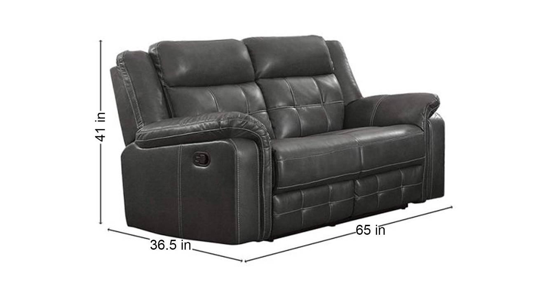 Zeke manual recliner grey color upholstered recliner finish 6