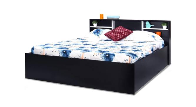 Tinos Storage Bed (Queen Bed Size, Brown Finish) by Urban Ladder - Front View Design 1 - 375164