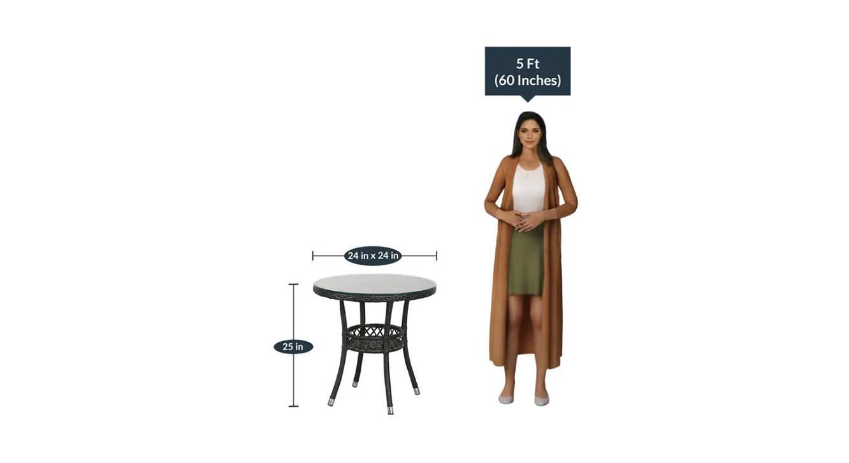 Harris coffee table black color matt finish 6