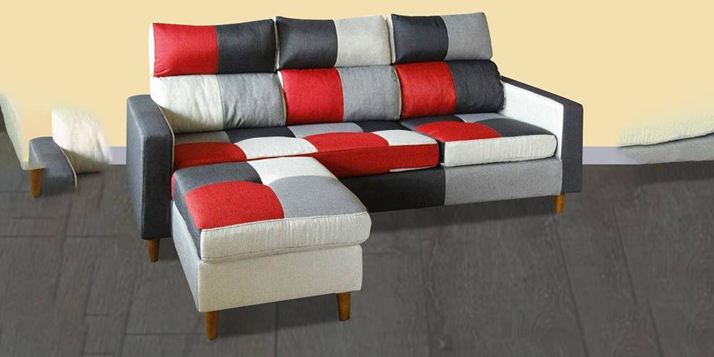 Crawford Fabric Sectional Sofa - Multi-Color by Urban Ladder - -