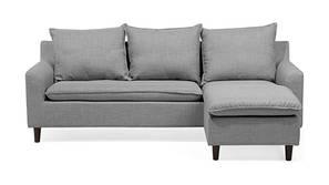 Imola Fabric Sectional Sofa - Light Grey