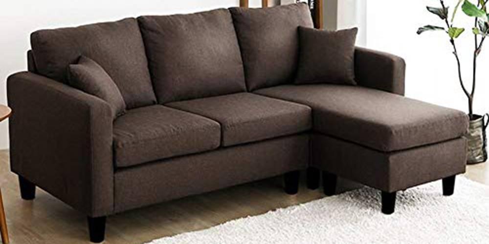 Ishikawa Fabric Sectional Sofa - Brown by Urban Ladder - -