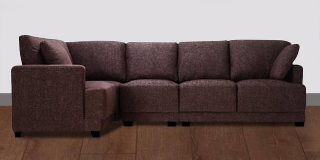 Klaus Sectional Sofa - Dark Brown (None Standard Set - Sofas, Dark Brown, Fabric Sofa Material, Regular Sofa Size, Sectional Sofa Type, Regular Cushion Type, Interchangeable Sectional Sofa Custom Set - Sofas)