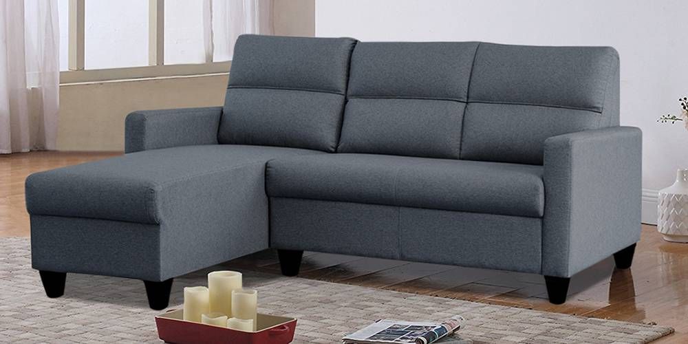 Homer Fabric Sectional Sofa - Blue by Urban Ladder - -