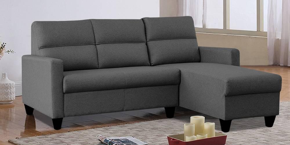 Homer Fabric Sectional Sofa - Grey by Urban Ladder - -