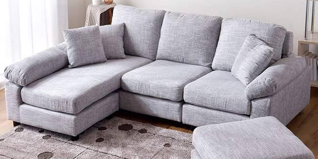 Shyla Fabric Sectional Sofa - Light Grey (None Standard Set - Sofas, Light Grey, Fabric Sofa Material, Regular Sofa Size, Sectional Sofa Type, Regular Cushion Type, Interchangeable Sectional Sofa Custom Set - Sofas)