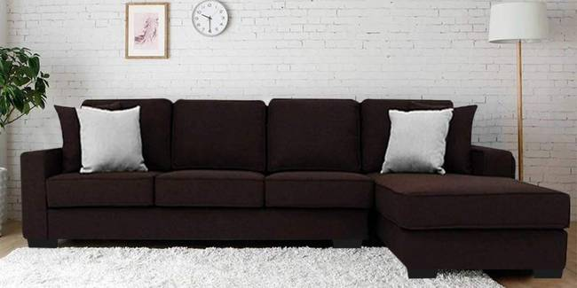 Spencer Fabric Sectional Sofa - Brown (Brown, None Standard Set - Sofas, Fabric Sofa Material, Regular Sofa Size, Sectional Sofa Type, Right Sectional Sofa Custom Set - Sofas, Regular Cushion Type)