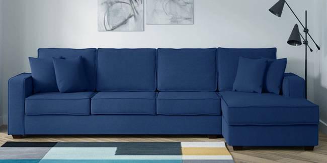Wentz Fabric Sectional Sofa - Blue (Blue, None Standard Set - Sofas, Fabric Sofa Material, Regular Sofa Size, Sectional Sofa Type, Right Sectional Sofa Custom Set - Sofas, Regular Cushion Type)
